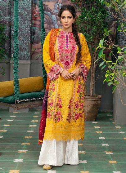 Kesar Embroidered Pakistani Salwar Kameez