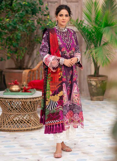 Paras Embroidered Pakistani Salwar Kameez