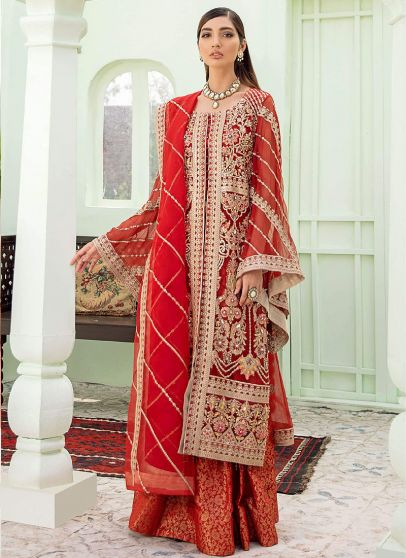 Golden Hour Embroidered Pakistani Palazzo Suit