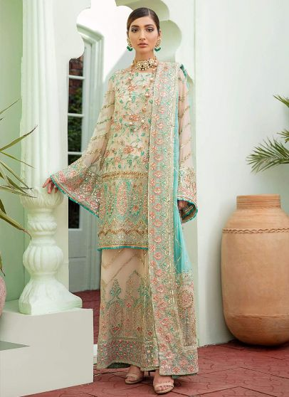 Merry Marvelous Embroidered Pakistani Palazzo Suit