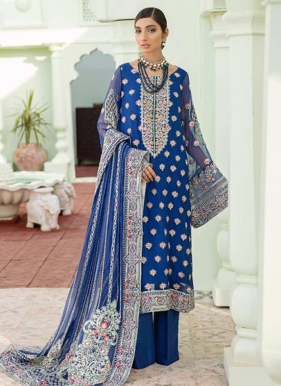 Dazed Delights Embroidered Pakistani Palazzo Suit
