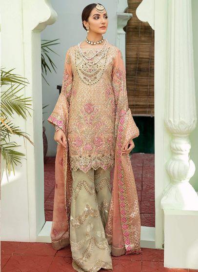 Blush Obsession Embroidered Pakistani Palazzo Suit