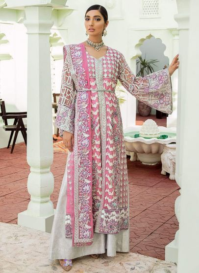 Heavenly Allure Embroidered Pakistani Palazzo Suit