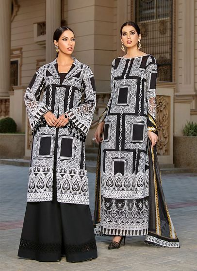 Aaliyah Embroidered Pakistani Palazzo Suit/ Pant Suit