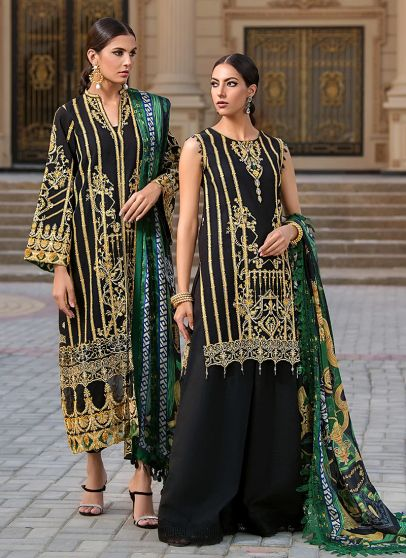 Dion Embroidered Pakistani Palazzo Suit/ Pant Suit