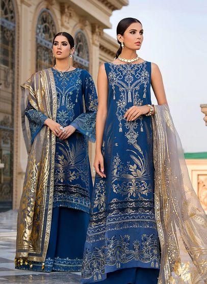Iris Embroidered Pakistani Palazzo Suit/ Anarkali