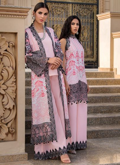 Rose Embroidered Pakistani Palazzo Suit/ Pant Suit