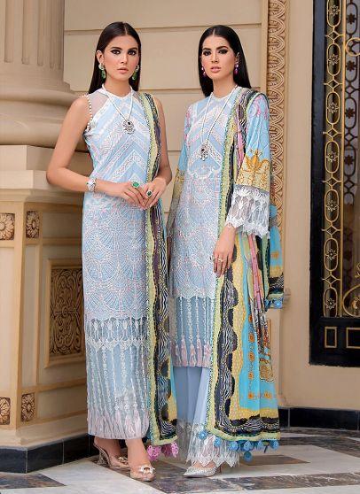 Talia Embroidered Pakistani Palazzo Suit/ Pant Suit