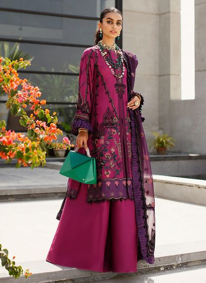 Festive Collection Embroidered Pakistani Palazzo Suit