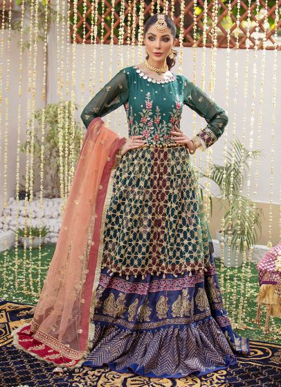 Dil Noor Embroidered Pakistani Lehenga