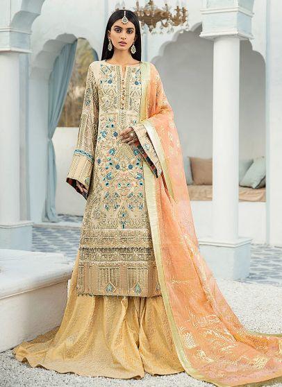 Prep N Prime Embroidered Pakistani Sharara Suit