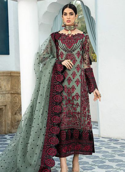 Terrarium Galore Embroidered Pakistani Salwar Kameez