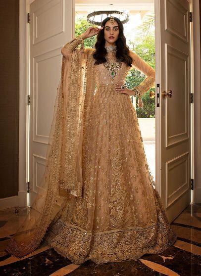 Gold Embroidered Pakistani Lehenga
