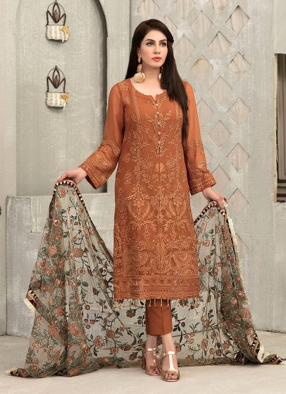 Fancy Chiffon Collection Embroidered Pakistani Salwar Kameez