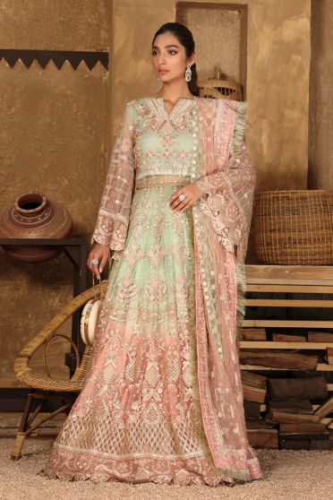 Bridal Collection Embroidered Pakistani Lehenga