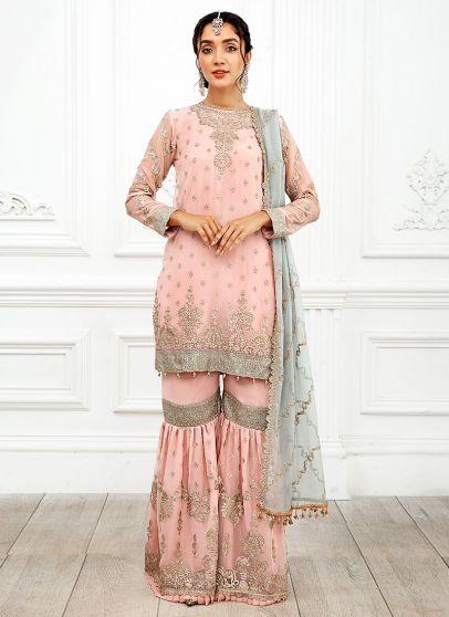 Roohi Embroidered Pakistani Gharara Suit