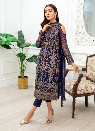 Dhanak Embroidered Pakistani Salwar Kameez